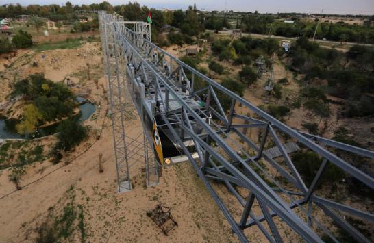 Photo of تفتتح أول قطار معلق في قطاع غزة